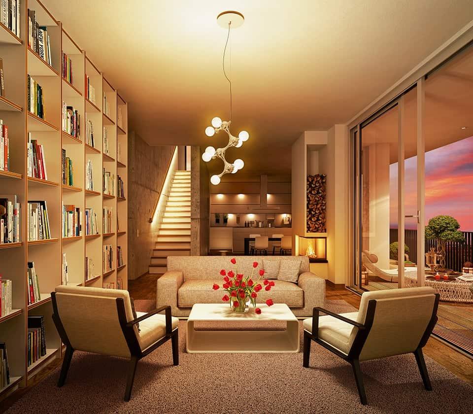 Stimmungsvolles Ambiente gedimmt - das richtige Licht für ein gemütliches Zuhause