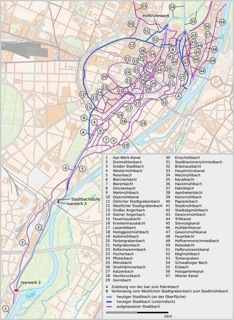 Münchner Stadtbäche unterirdisch