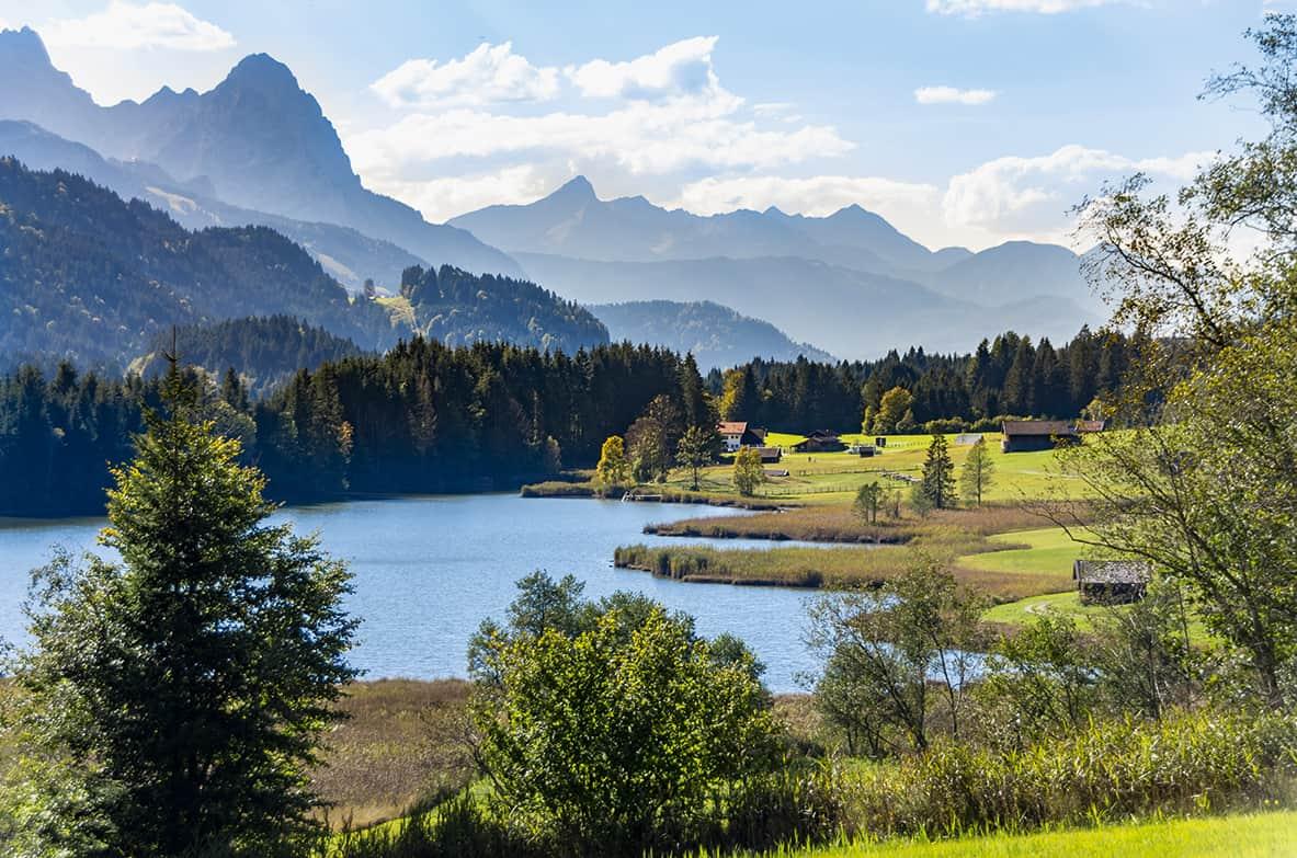 Wandern und Baden am Geroldsee