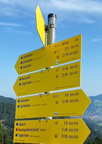 Wanderung Richtung Tegernsee