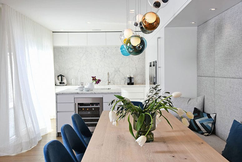 Freiraum für Familienleben: Essbereich-Küche