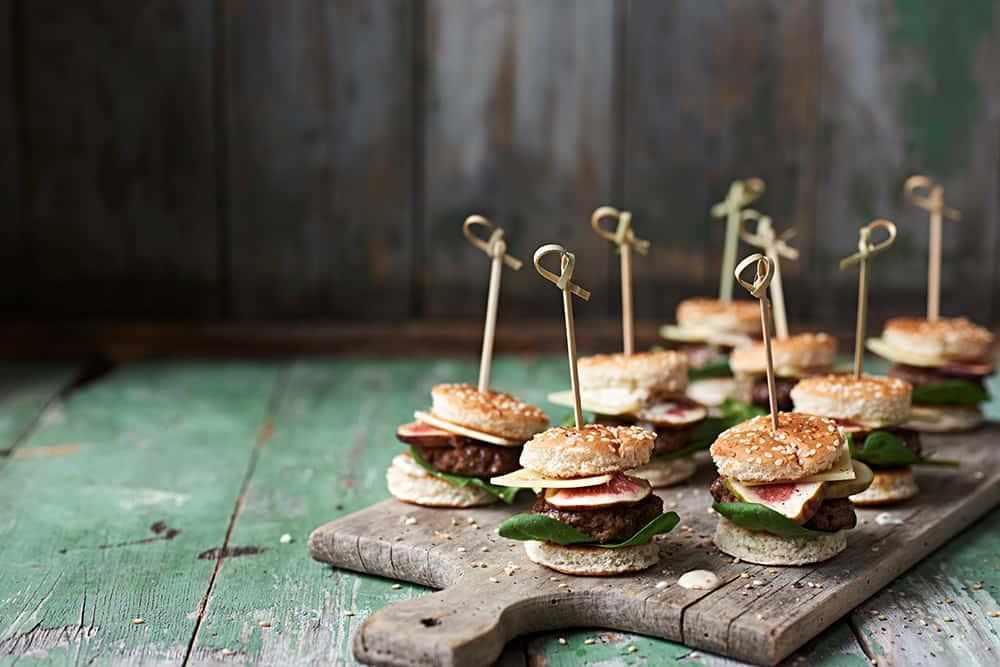 Rezept Mini Burger Spieße