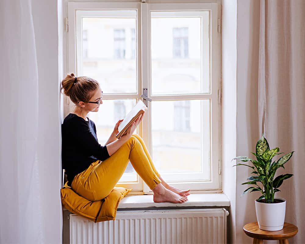 Lesen vor Fenster