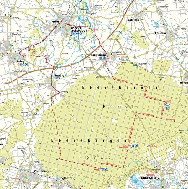 Radtour Ebersberger Forst Karte