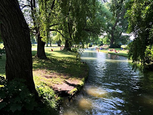 Englischer Garten München Schwabinger Bach