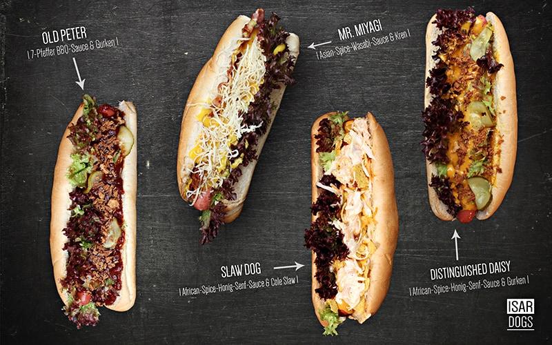 Isardogs Hot Dogs all