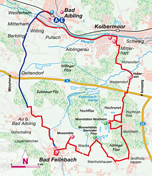 Fahrradtour Bahnstrassenradweg Bad Aibling